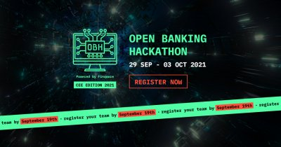 Open Banking Hackathon, prizes of 5,000 € in cash. Registrations are still open
