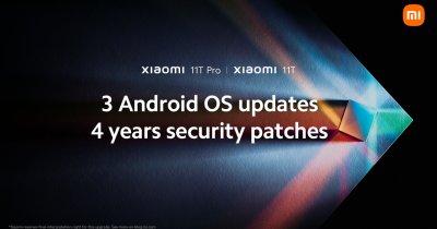 Xiaomi promite 3 upgrade-uri de sistem și 4 ani de update-uri de securitate pentru seria Xiaomi 11T