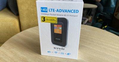 REVIEW Router wireless Tenda 4G 185 - internet pentru un road trip cu familia