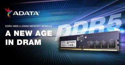 ADATA lansează modulele de memorie DDR5-4800